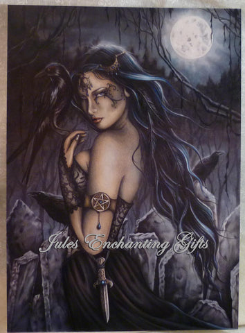 The Morrigan - 5 x 7 Fairy Art Print - Munro Gifts - Jules Enchanting Gifts