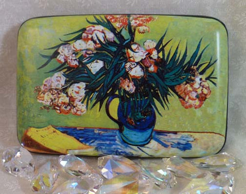 Wallet Fine Art Flowers - Vase with Oleanders & Books - Fig Design - Jules Enchanting Gifts