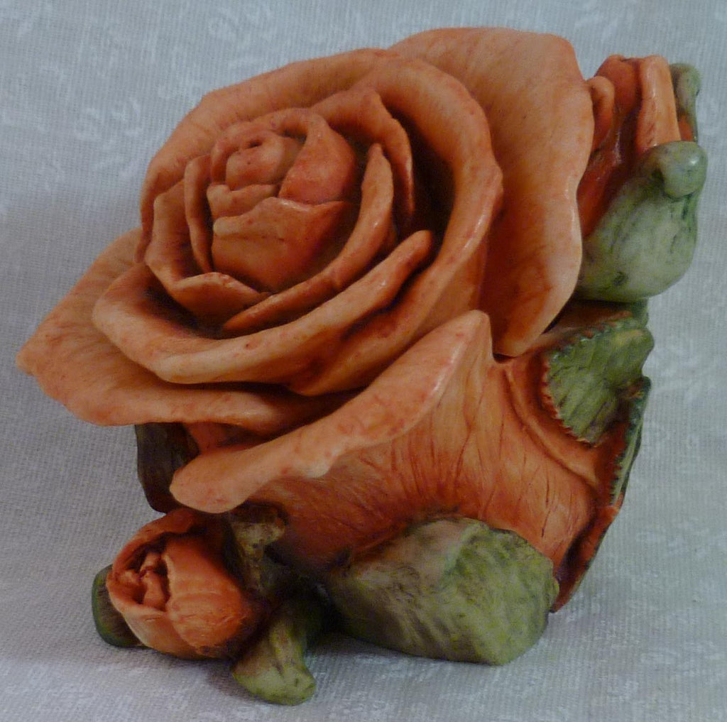 Single Orange Rose - Harmony Kingdom - Jules Enchanting Gifts