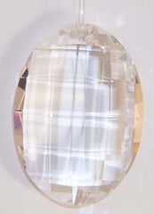 Plaid Drop 32mm Clear - Crystals - Jules Enchanting Gifts