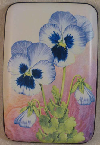 Wallet Flowers - Pansies - Fig Design - Jules Enchanting Gifts
