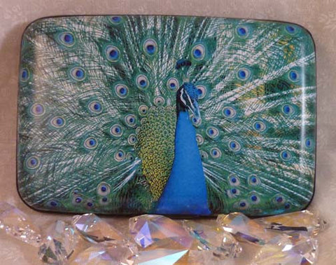 Wallet - Peacock with Full Fan - Fig Design - Jules Enchanting Gifts
