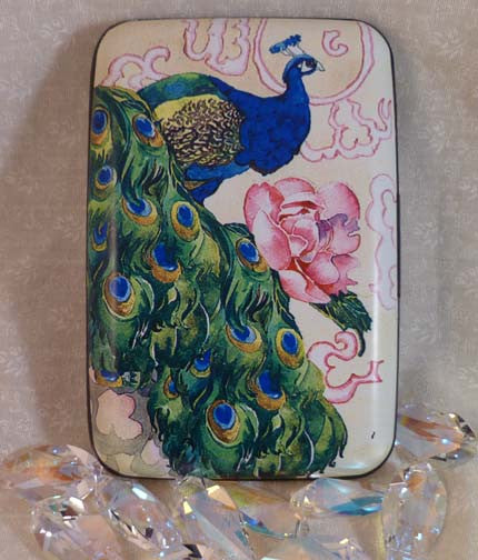 Wallet - Peacock with Rose - Fig Design - Jules Enchanting Gifts