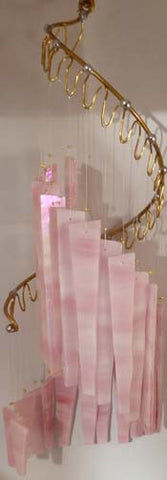 Light Opera Wind Chime - Pink Wispy Large - Winter Garden Gallery - Jules Enchanting Gifts - 1