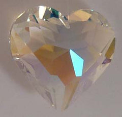 Faceted Puffy Heart 50mm - Aurora Borialis - Crystals - Jules Enchanting Gifts