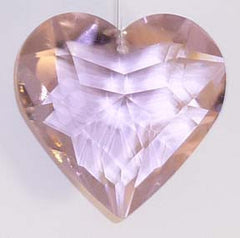Faceted Puffy Heart 50mm Rose - Crystals - Jules Enchanting Gifts