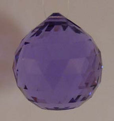 Double Faceted Ball 30mm Violet - Crystals - Jules Enchanting Gifts