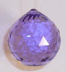 Double Faceted Ball 40mm Violet - Crystals - Jules Enchanting Gifts