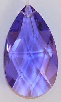 Faceted Almond 38mm Violet - Crystals - Jules Enchanting Gifts