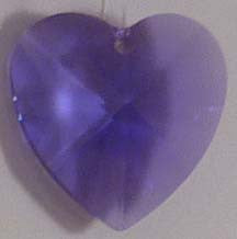 Faceted Heart 28mm Violet - Crystals - Jules Enchanting Gifts