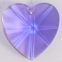Faceted Heart 20mm Violet - Crystals - Jules Enchanting Gifts