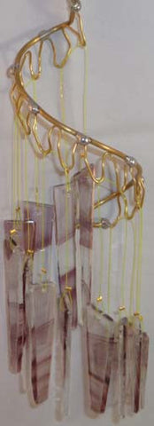 Light Opera Wind Chime - Amethyst on Crystal Baroque Large - Winter Garden Gallery - Jules Enchanting Gifts