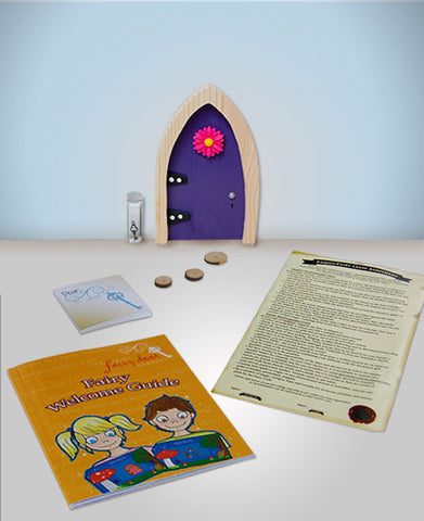 Purple Arched Irish Fairy Door - Irish Fairy Door Company - Jules Enchanting Gifts - 1