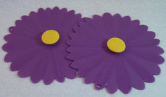 "Purple Daisy Drink Covers 4"" Set of 2 - Charles Viancin - Jules Enchanting Gifts"