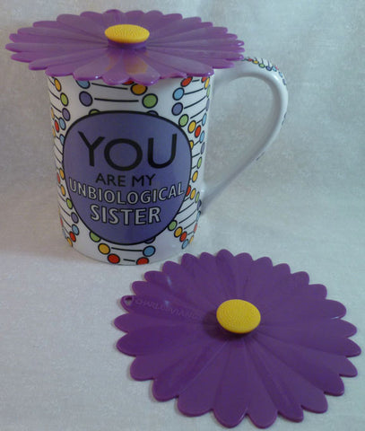 "Purple Daisy Drink Covers 4"" Set of 2 - Charles Viancin - Jules Enchanting Gifts - 1"