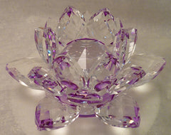 Small Purple Crystal Lotus with 30mm Crystal Ball