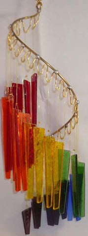 Light Opera Wind Chime - Rainbow starting with Red Small - Winter Garden Gallery - Jules Enchanting Gifts