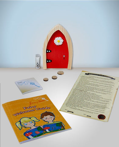 Red Arched Irish Fairy Door - Irish Fairy Door Company - Jules Enchanting Gifts - 1