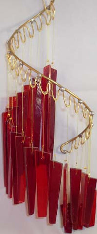 Light Opera Wind Chime - Red Large - Winter Garden Gallery - Jules Enchanting Gifts