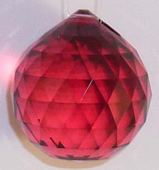 Double Faceted Ball 40mm Bordeaux - Crystals - Jules Enchanting Gifts