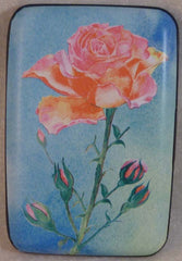 Wallet Flowers - Rose - Fig Design - Jules Enchanting Gifts
