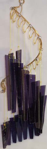 Light Opera Wind Chime - Royal Purple Small - Winter Garden Gallery - Jules Enchanting Gifts