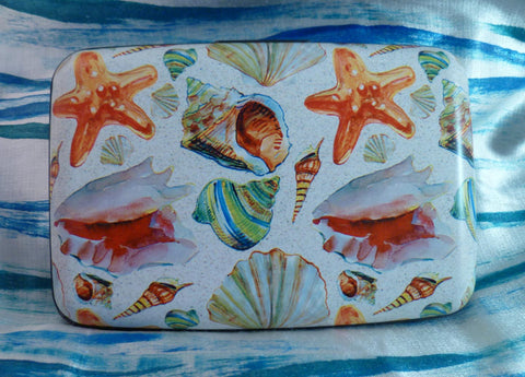 Wallet - Coastal Shells on Sand - Fig Design - Jules Enchanting Gifts