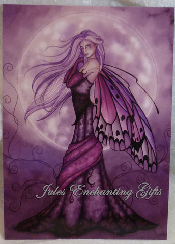 Silver Moon - 5 x 7 Fairy Art Print - Munro Gifts - Jules Enchanting Gifts