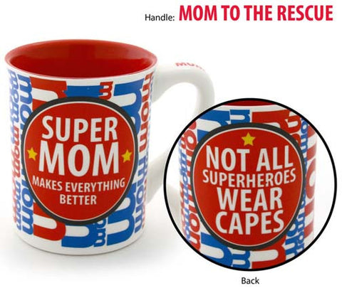 Super Mom Mug - Our Name is Mud - Jules Enchanting Gifts