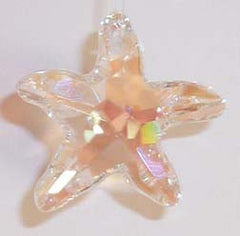 Starfish 28mm Aurora Borealis - Crystals - Jules Enchanting Gifts