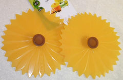 "Sunflower Drink Cover 4"" Set of 2 - Charles Viancin - Jules Enchanting Gifts"