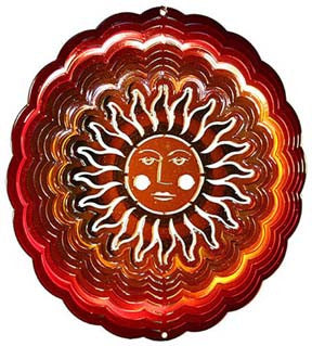 Eycatcher - Small Sun Face Antique Red/Copper - Next Innovations - Jules Enchanting Gifts