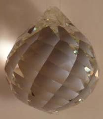 Faceted Ball Swirl 20mm Clear - Crystals - Jules Enchanting Gifts