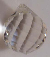 Faceted Ball Swirl 40mm Clear - Crystals - Jules Enchanting Gifts