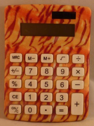 Pretty Tools Calculator - Tiger - Fig Design - Jules Enchanting Gifts