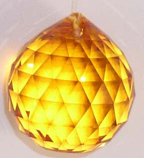 Double Faceted Ball 40mm Topaz - Crystals - Jules Enchanting Gifts