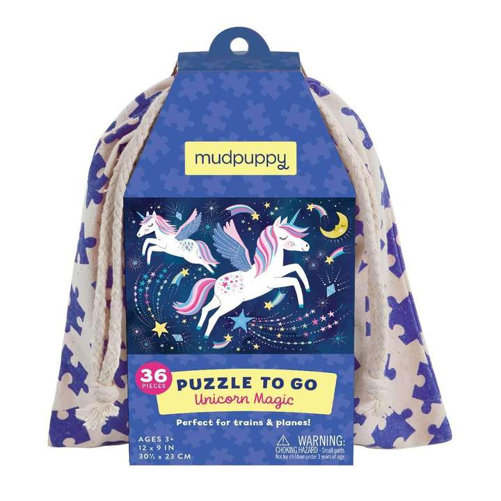 Unicorn Magic Puzzle to Go with Drawstring Bag