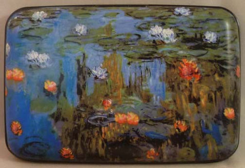 Wallet Fine Art #2 - Water Lilies - Fig Design - Jules Enchanting Gifts