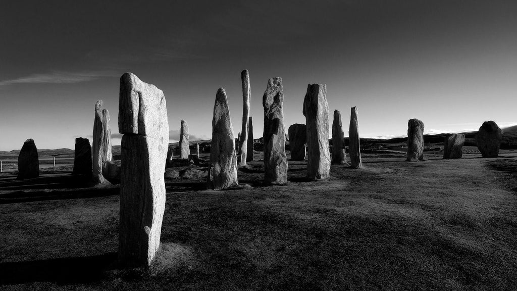 Callanish Stones, Atmospheric Black and White photograph, fine art