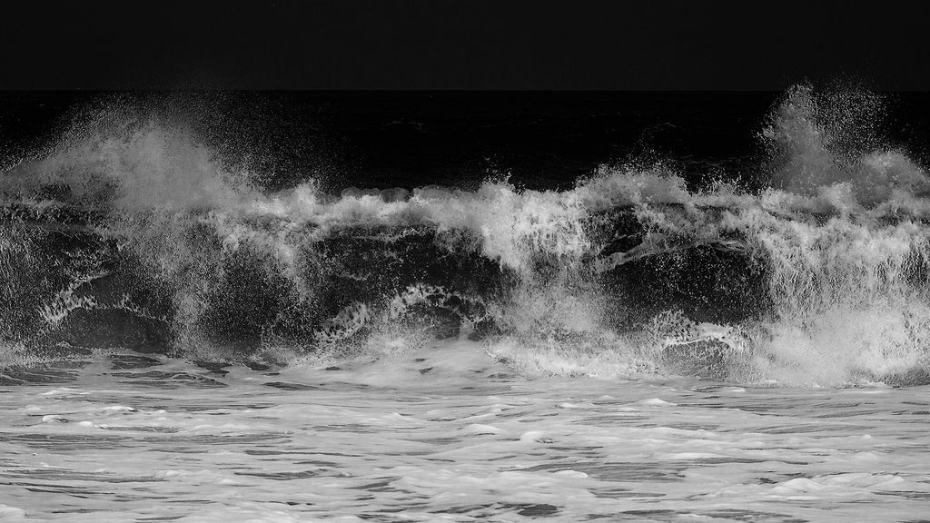 Crest of waves, Hebridean Sea, Black and White Photograph