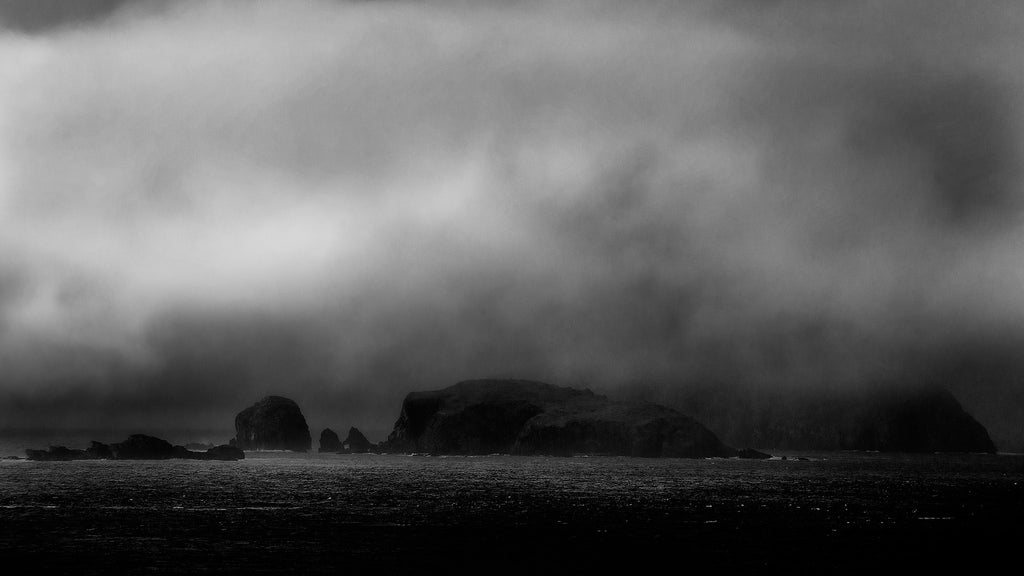 Atmospheric Black and White photograph of Hebridean Island Scene