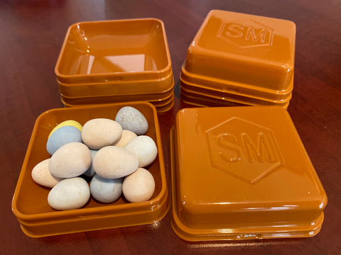 5 Brown Trays for Tokens and Eggs