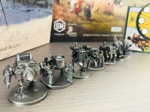 Scythe Metal Mechs (1 from each faction); limit 8 sets per customer