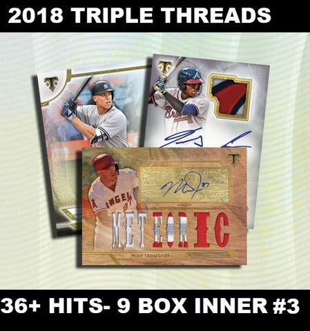 2018 TRIPLE THREADS BASEBALL 9 BOX INNERS 1-8