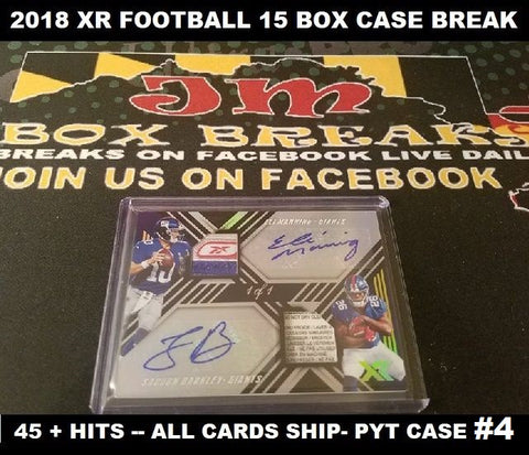 2018 XR FOOTBALL CASE BREAK #4