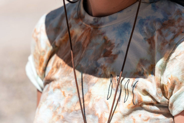 UNA Ice Dyed Organic White Zinfandel Shirt in Canyon