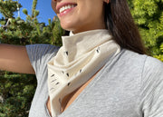 Organic Cotton Love Bandana - Natural