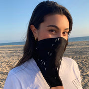 Organic Cotton Love Bandana - Black