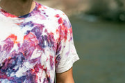 UNA Ice Dyed Organic White Zinfandel Shirt in Orchid