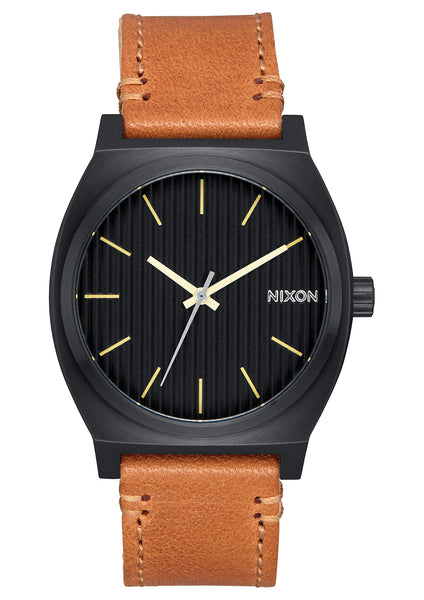 Nixon Time Teller Black/Stamped/Brown
